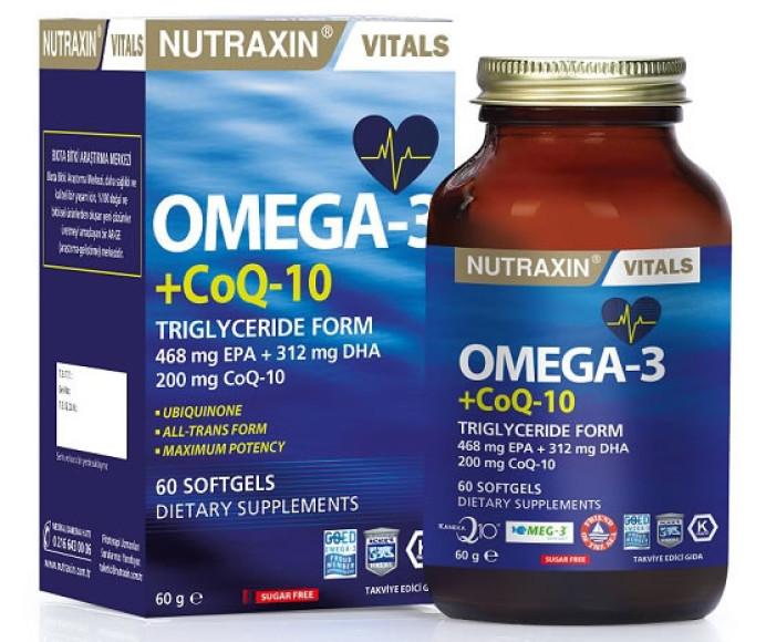 Omega3+KoenzimQ10' gıda takviyesi ile  yıllara meydan okuyun