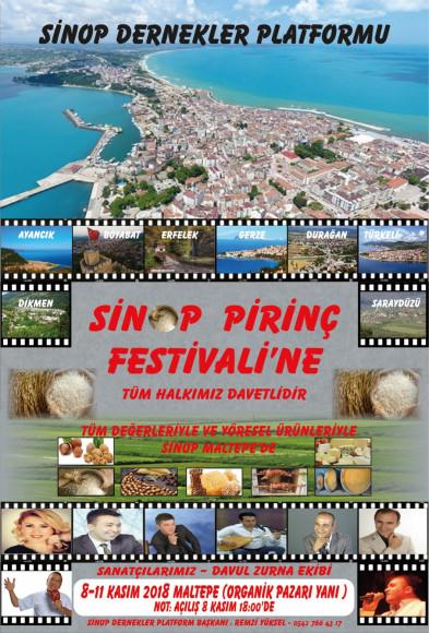Sinop Pirinç Festivali 8 Kasım'da Maltepe'de başlıyor