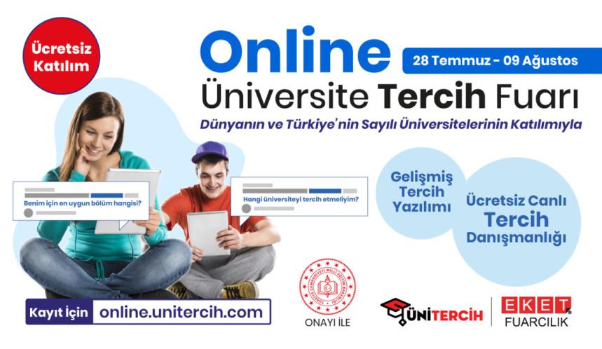 Dünyanın ve Türkiye'nin Sayılı ve Önde Gelen Üniversiteleri Online Üniversite Tercih Fuarı'nda adaylar ile buluşuyor!